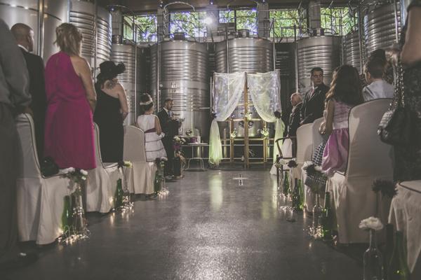 ceremonia en la bodega