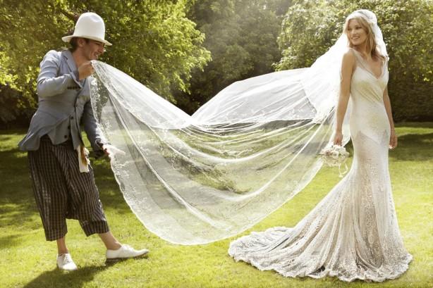 Kate Moss vestida de novia