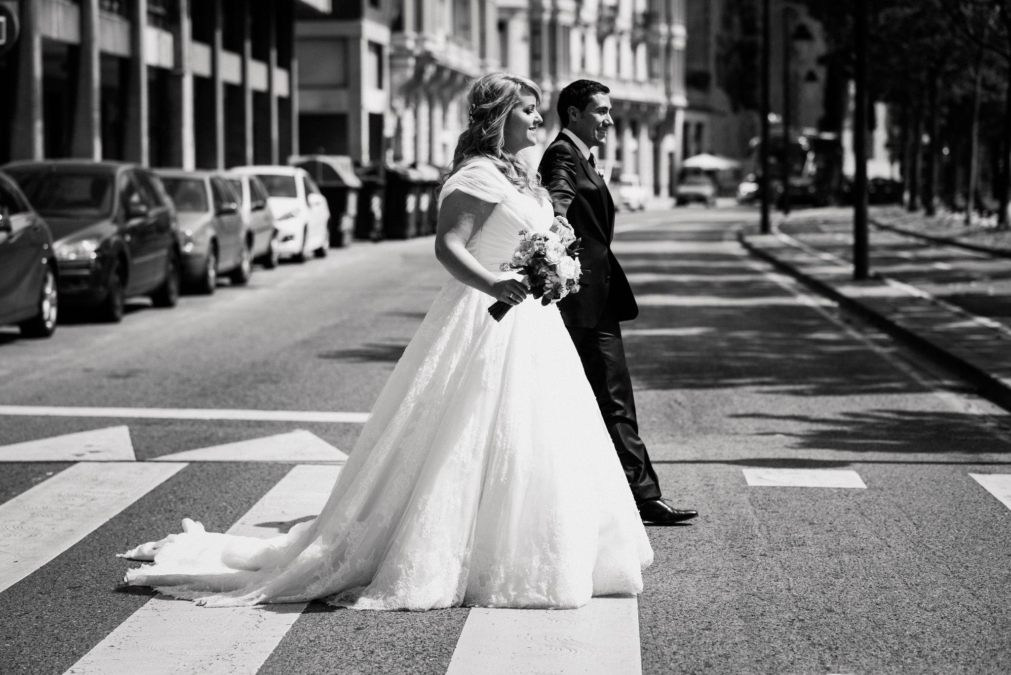 Novios, boda Bilbao