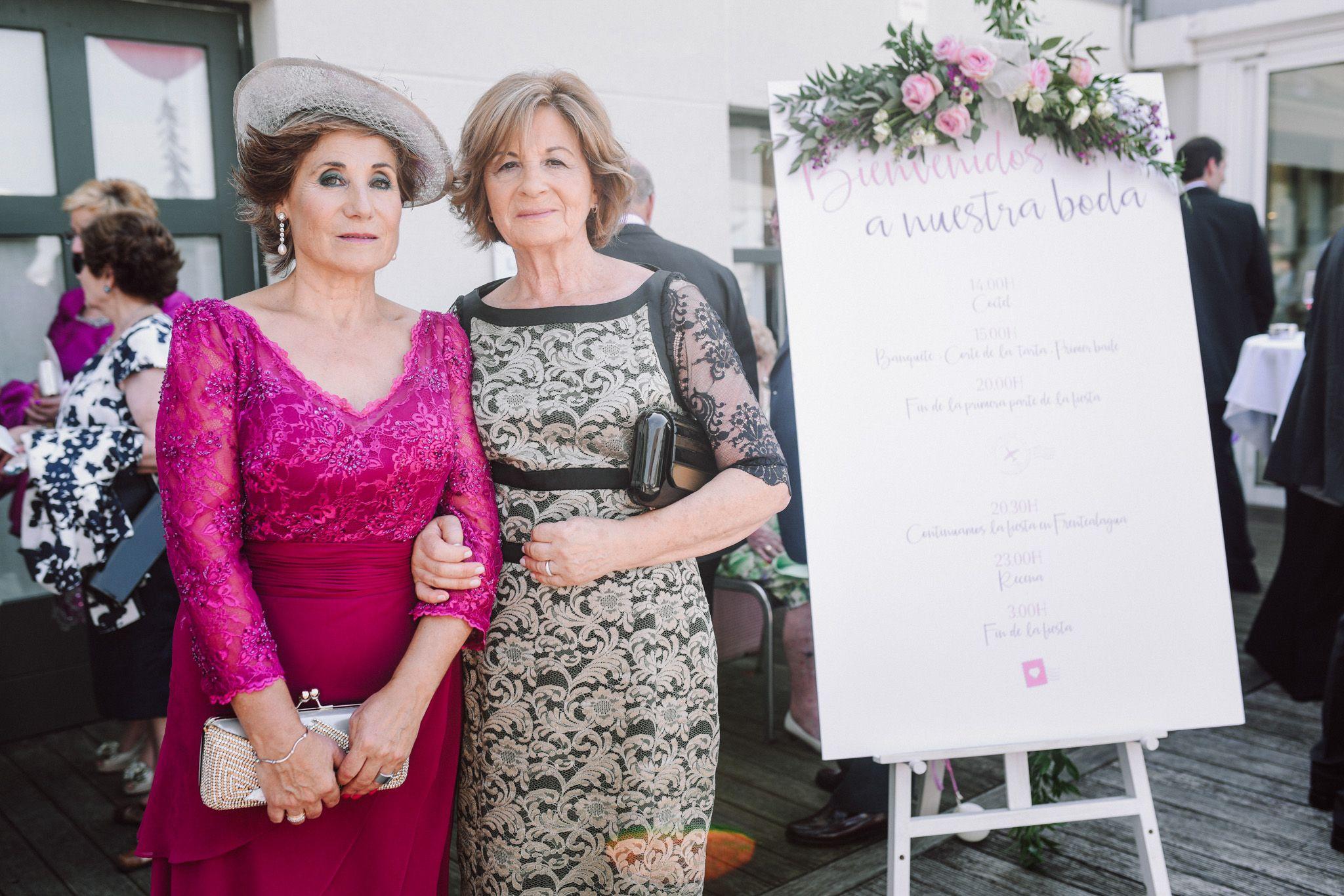 Cartel bienvenida, boda Bilbao Hesperia Zubialde