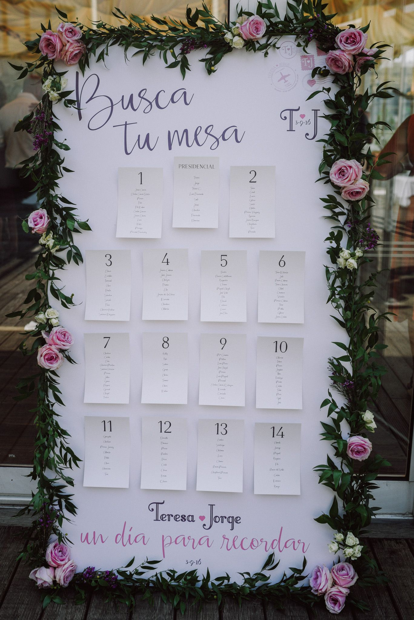 Seating Conmemöra, boda Bilbao Hesperia Zubialde