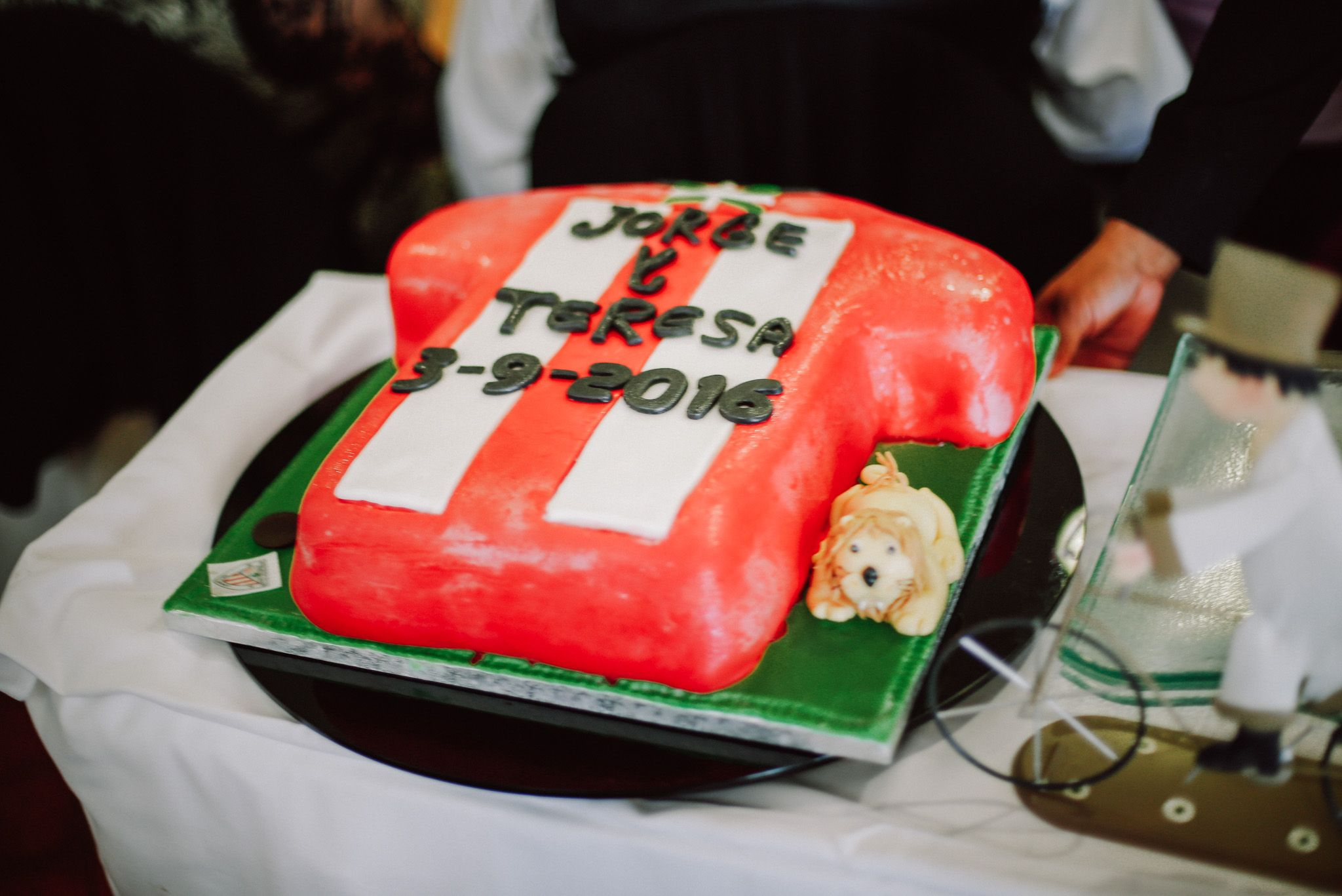 Tarta nupcial del Athletic Club Bilbao, boda