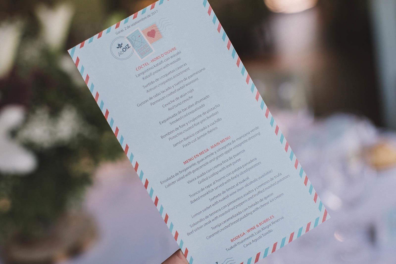 Papeleria personalizada para la boda de E&B, conmemora wedding planner