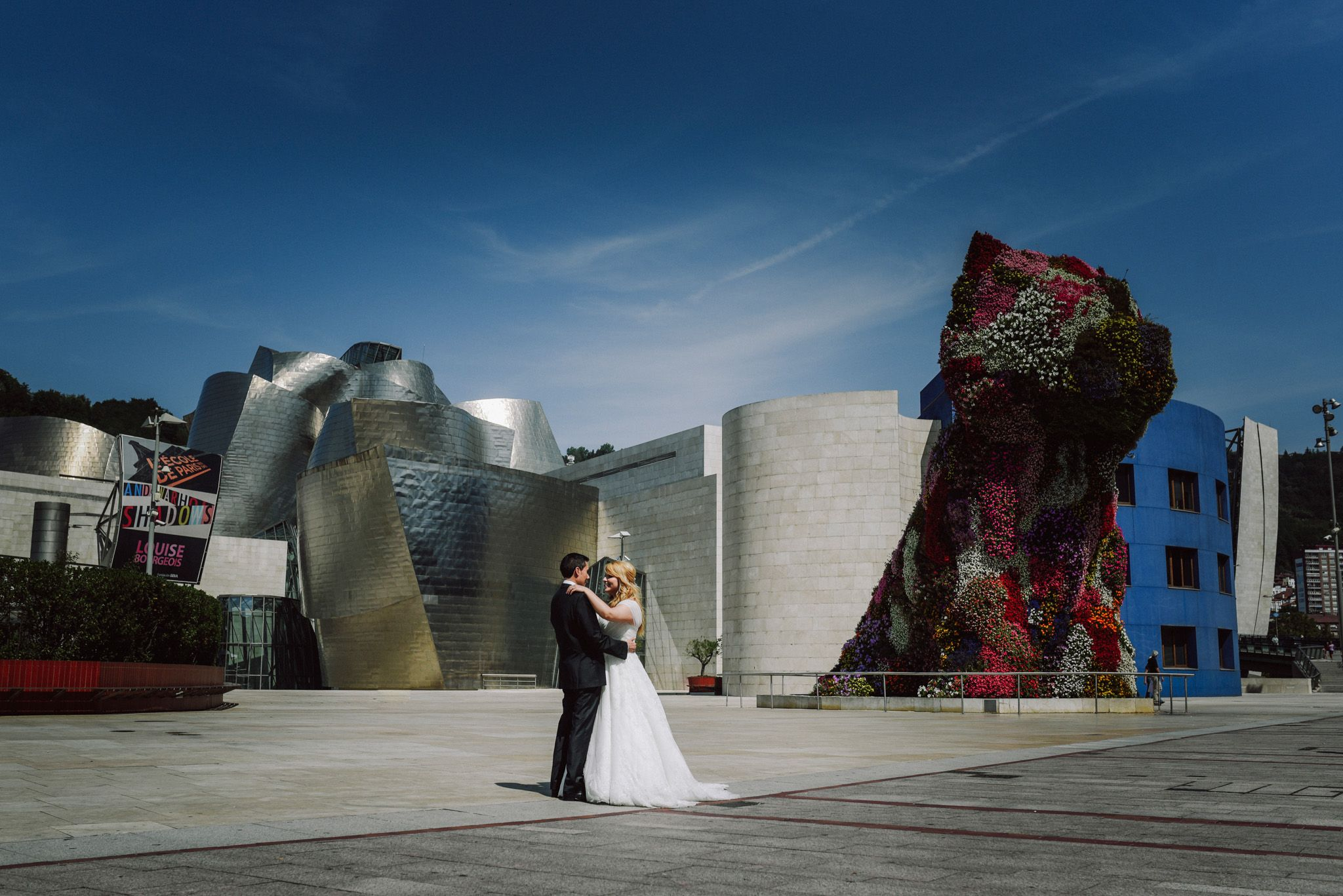 novios Guggenheim, boda Bilbao