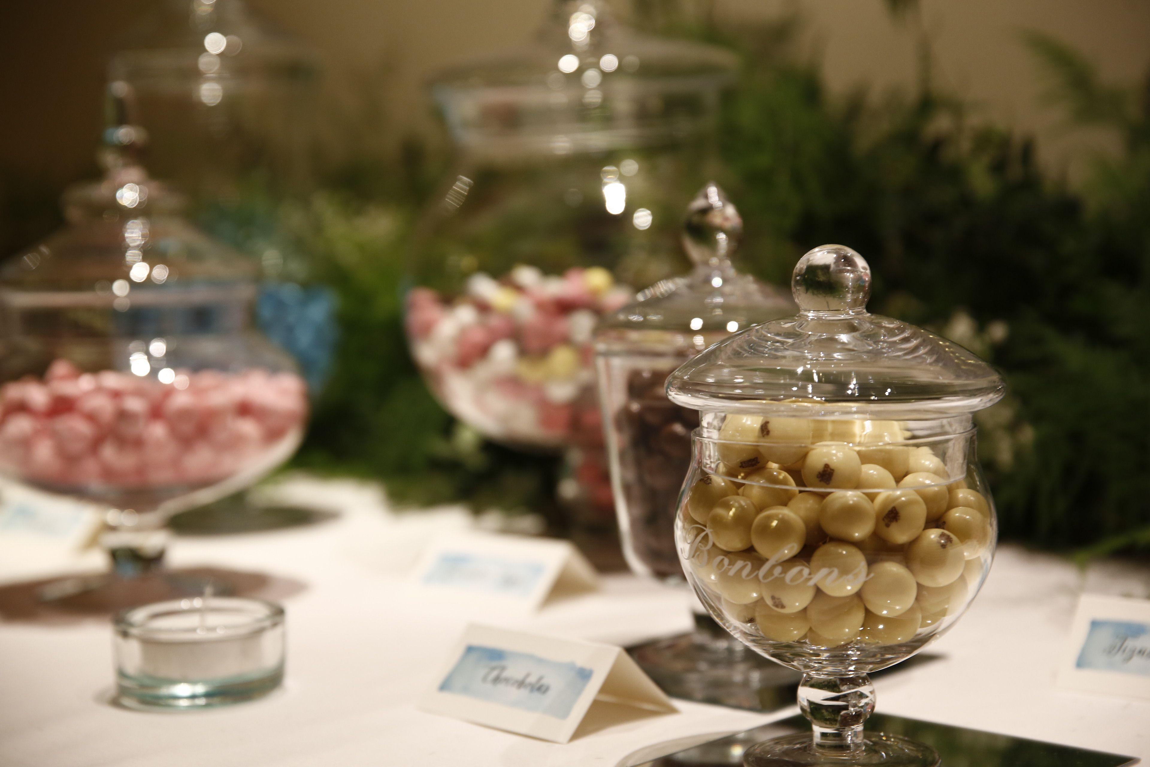 Candy bar en el hotel Carlton, Bilbao, diseñada por Conmemöra Wedding Planner