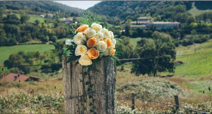 ramo de novia rosas, quejana, araba